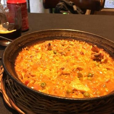 pollo paella